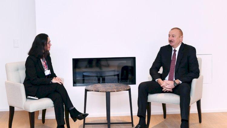 İlham Əliyevin Davosda daha bir görüşü baş tutdu